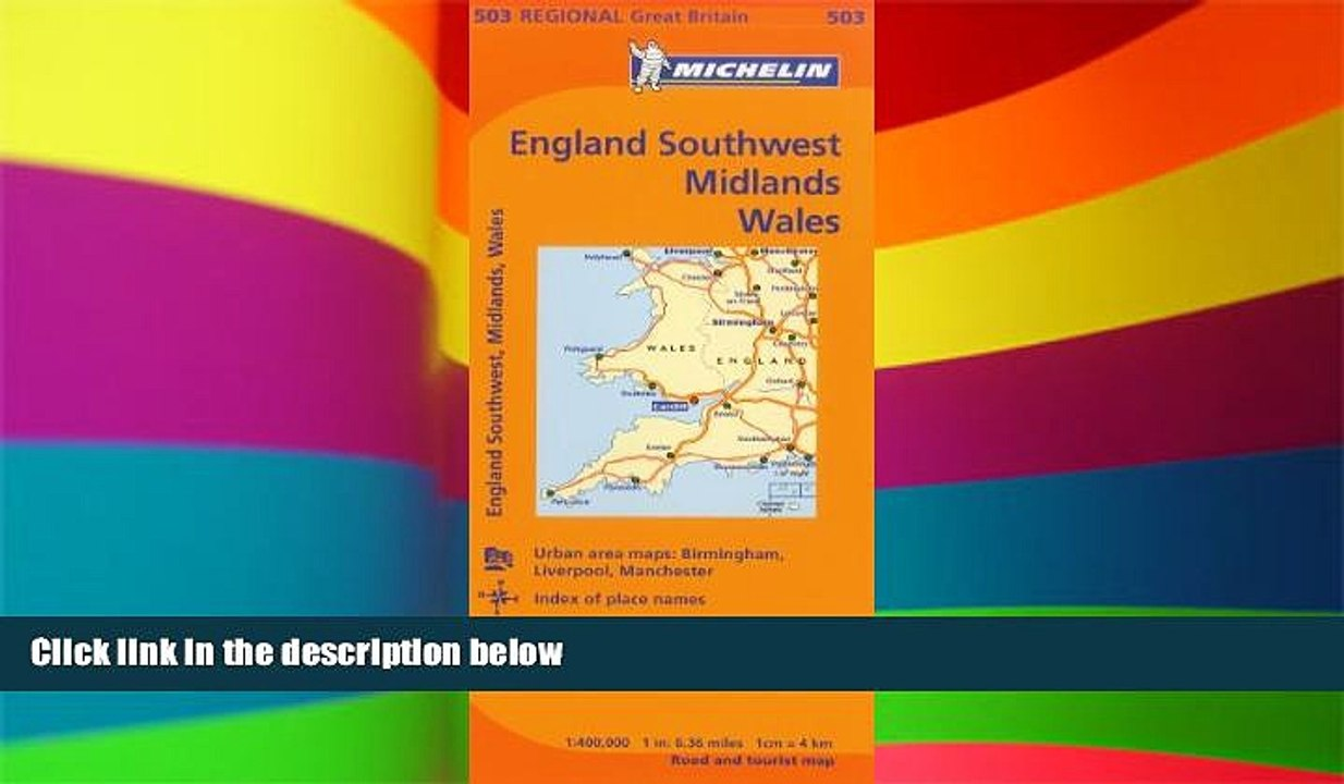 South West England  503 Michelin Map Great Britain Wales The Midlands