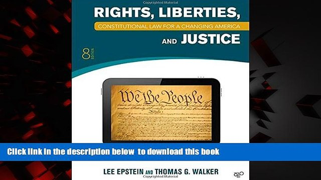 Best books  Constitutional Law: Rights, Liberties and Justice 8th Edition (Constitutional Law for