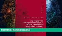 FAVORITE BOOK  La pédagogie de l enseignement supérieur : repères théoriques et applications