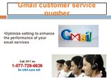 Gmail contact number 1-877-729-6626 for all your solutions related to Gmail