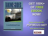Taking Sides Clashing Views in Constitutional Law (Taking Sides Constitutional Law)