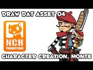 Draw Dat Asset. Character creation, Monté