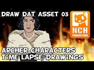 Draw Dat ASSet. Archer Characters Time-lapse drawing.