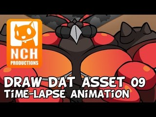 Draw Dat Asset: UB-02 Absorption Time lapse animation