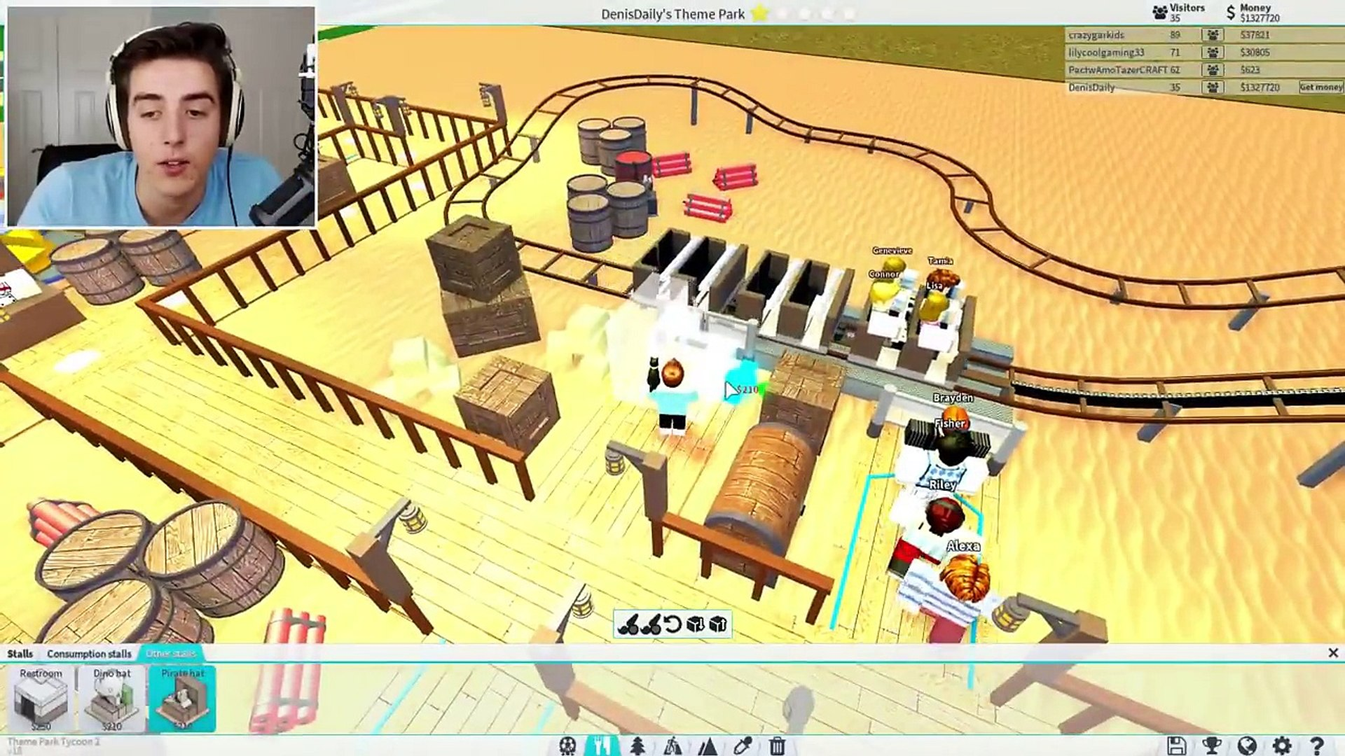 Roblox Adventures Theme Park Tycoon 2 Building A Giant Roller