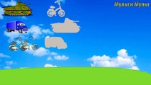 Cars Puzzles for Toddlers - Real sounds! - Transportation sounds - names and sounds of vehicles
