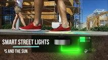 Voici des lampadaires révolutionnaires alimentés par les pas des passants. Ingénieux !