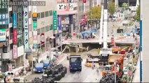 L'énorme trou qui s'est formé en pleine rue au Japon est réparé en 24h