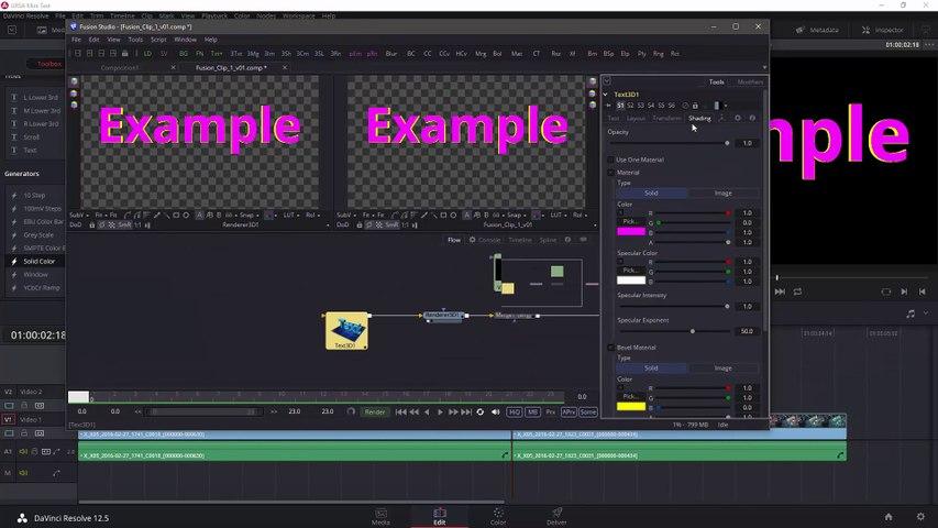 DaVinci Resolve Studio - Fusion Connect Pt2