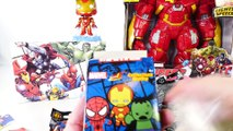 Play Doh Spiderman Surprise Egg Marvel Toys GIANT IRONMAN HULKBUSTER Toy Playdough Videos