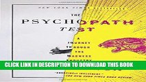 [PDF] Mobi The Psychopath Test: A Journey Through the Madness Industry Full Download