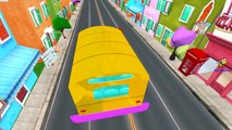 Animals Cartoons for Children Wheels On The Bus Go Round And Round Nursery Rhymes for Babies 3D