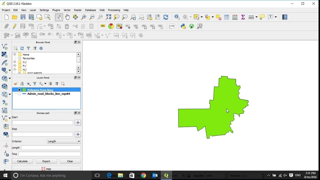 QGIS Tutorial: How to convert from line to polygon using QGIS 2017