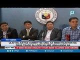 Ulat ng Justice Committee ukol sa imbestigasyon ng drug trade sa loob ng NBP, hinahanda na
