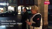 Distribution du nouveau Vosges Matin dans les rues de Remiremont