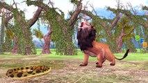 Animals Fighting Videos For Children | Elephant Vs Lion Vs Crocodile | Animals Attacks Short Movie