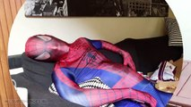 FAT SPIDERMAN Goes to Spa! Spiderman vs FAT Spiderman - Funny Superhero Movie In Real Life