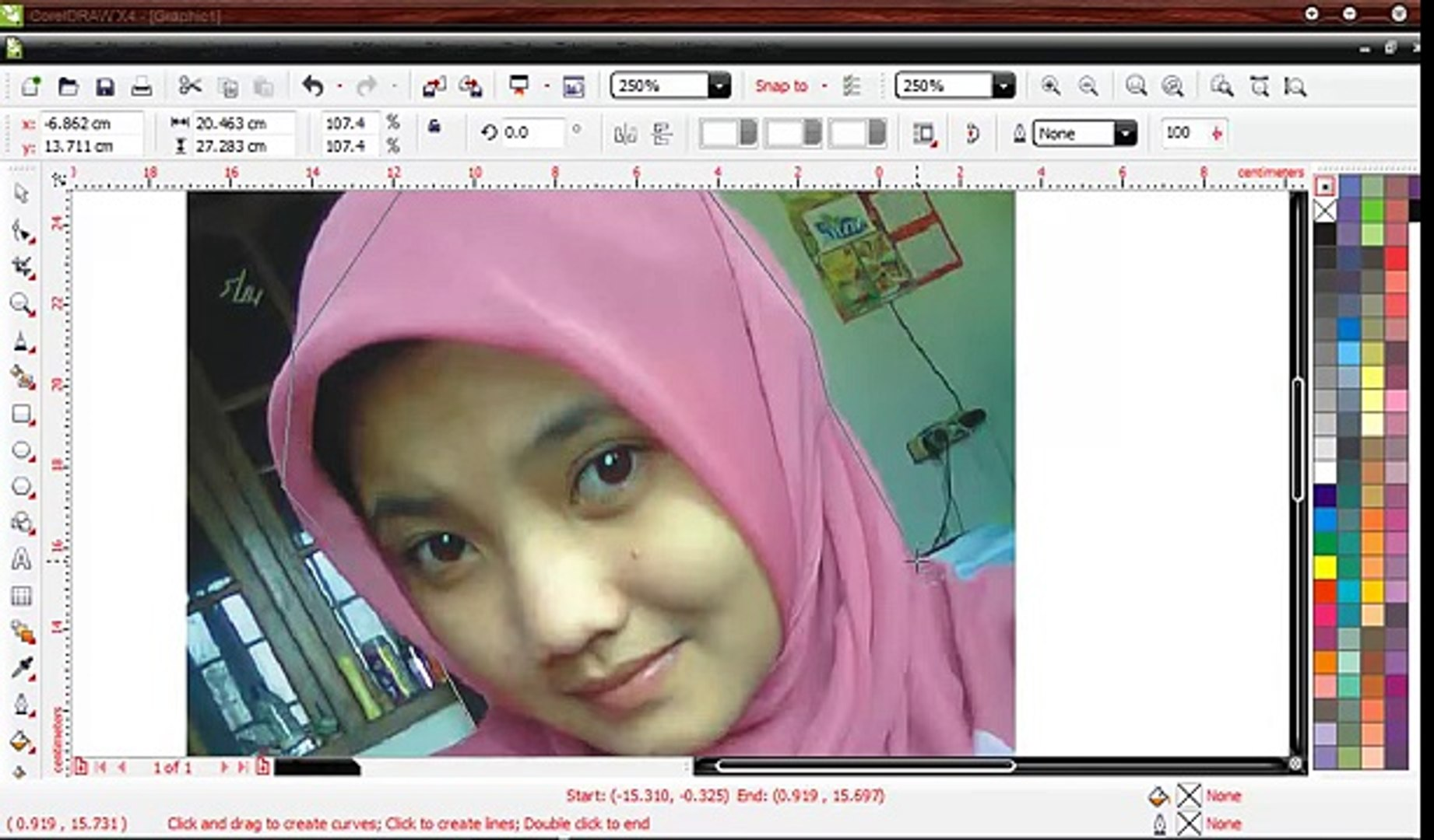 Tutorial Corel Draw - Clear Background Image With Intersect