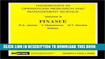 Best Seller Finance, Volume 9 (Handbooks in Operations Research and Management Science) Free Read
