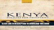 Best Seller Kenya: Policies for Prosperity (Africa: Policies for Prosperity) Free Read