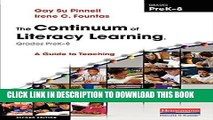 Best Seller The Continuum of Literacy Learning, Grades PreK-8, Second Edition: A Guide to Teaching