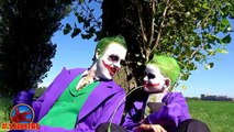 Joker vs Bad Joker Boy Frozen Elsa Kidnapped w Spiderman BAD BABY JOKER Real Life Superhero Movie 4K