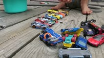 Hot Wheel Cars In The Potty and Toy Crane Fun part2