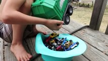 Hot Wheel Cars In The Potty and Toy Crane Fun part3