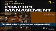 Read Tools   Techniques Of Practice Management (The Tools   Techniques) (The Tools   Techniques)