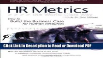 PDF HR Metrics The World Class Way Free Books