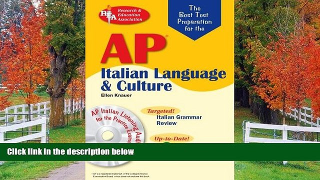 eBook Here AP Italian Language and Culture w/ Audio CDs (Advanced Placement (AP) Test Preparation)
