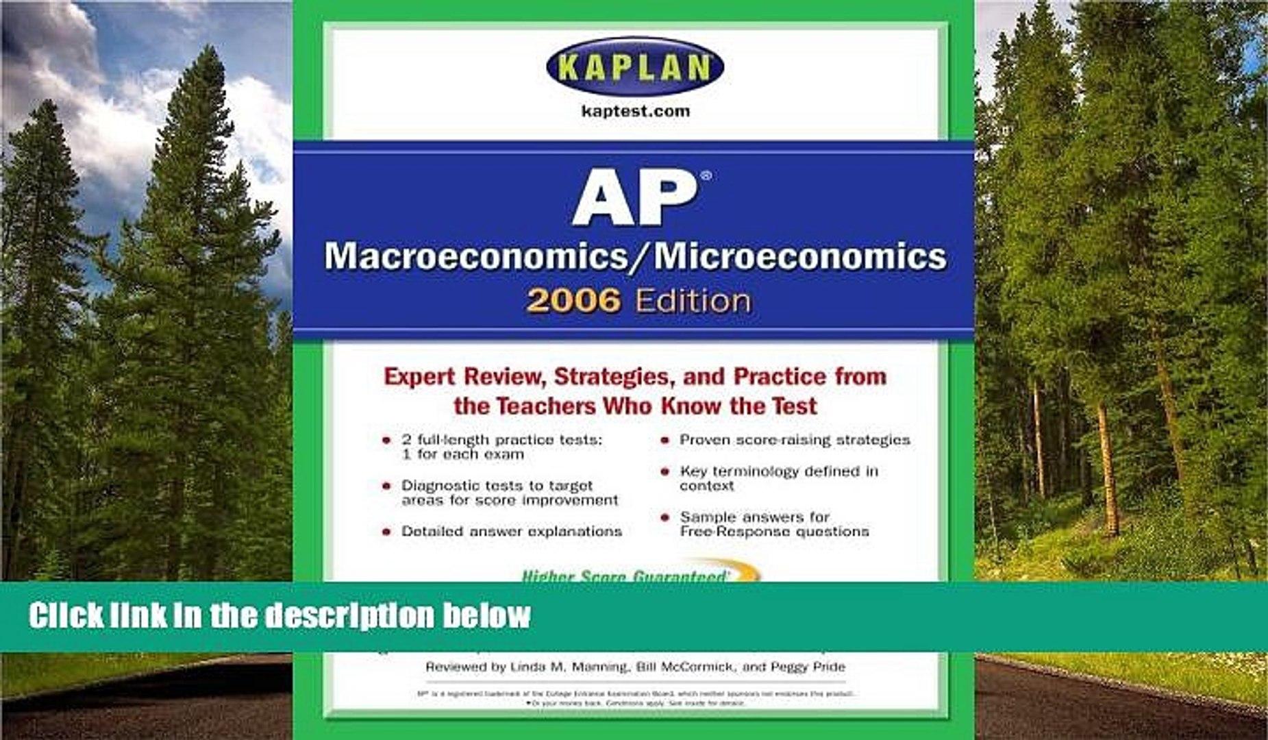 Enjoyed Read Kaplan AP Macroeconomics/Microeconomics 2006 Edition