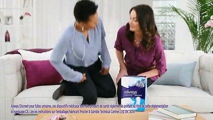 La finesse des serviettes hygiéniques Always Discreet