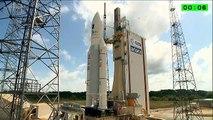 La fusée Ariane 5 décolle avec quatre satellites européens Galileo