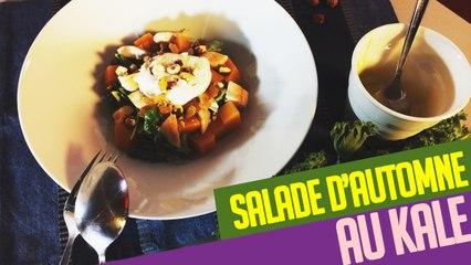Entrée healthy et originale : la salade d'automne au KALE