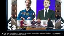 LNE : Thomas Sotto désespéré par les jeux de mots sur Emmanuel Macron et l'astronaute Thomas Pesquet (vidéo)