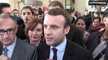 """Macron à Marseille : """"Il faut aller sur tous les territoires"""""""