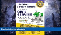 READ book  Practical Study Guide in taking Civil Service Exams and different type of test.  FREE