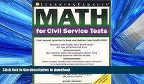 FAVORITE BOOK  Math for Civil Service Tests FULL ONLINE