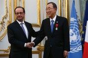 Remise de Légion d'honneur de M. Ban Ki Moon, Secrétaire Général des Nations Unies