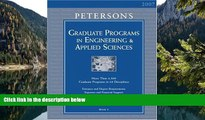Books to Read  Grad Guides BK5: Engineer/Appld Scis 2007 (Peterson s Graduate Programs in