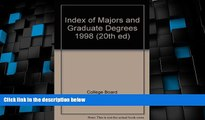 Buy NOW  Index of Majors and Graduate Degrees 1998 (20th ed)  Premium Ebooks Best Seller in USA