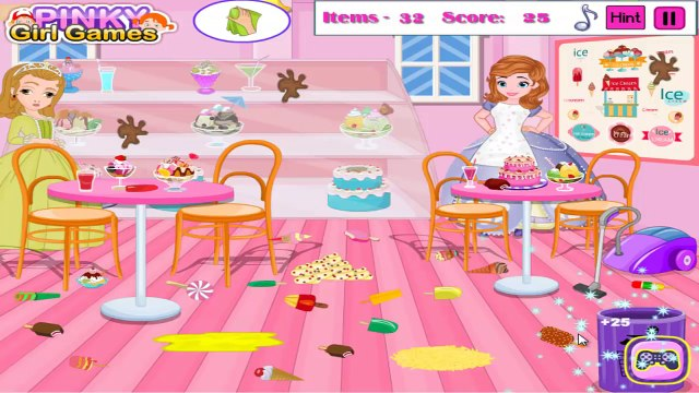 Sofia the First Ice Cream Shop Cleaning - Princess Sofia the First Games