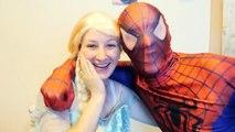 Spiderman & Frozen Elsa vs Joker & Blue Cat! w/ Spidergirl Maleficent Bad Baby Hulk! Superhero Fun