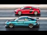 Integra SMOKES Twin Turbo Audi R8!?