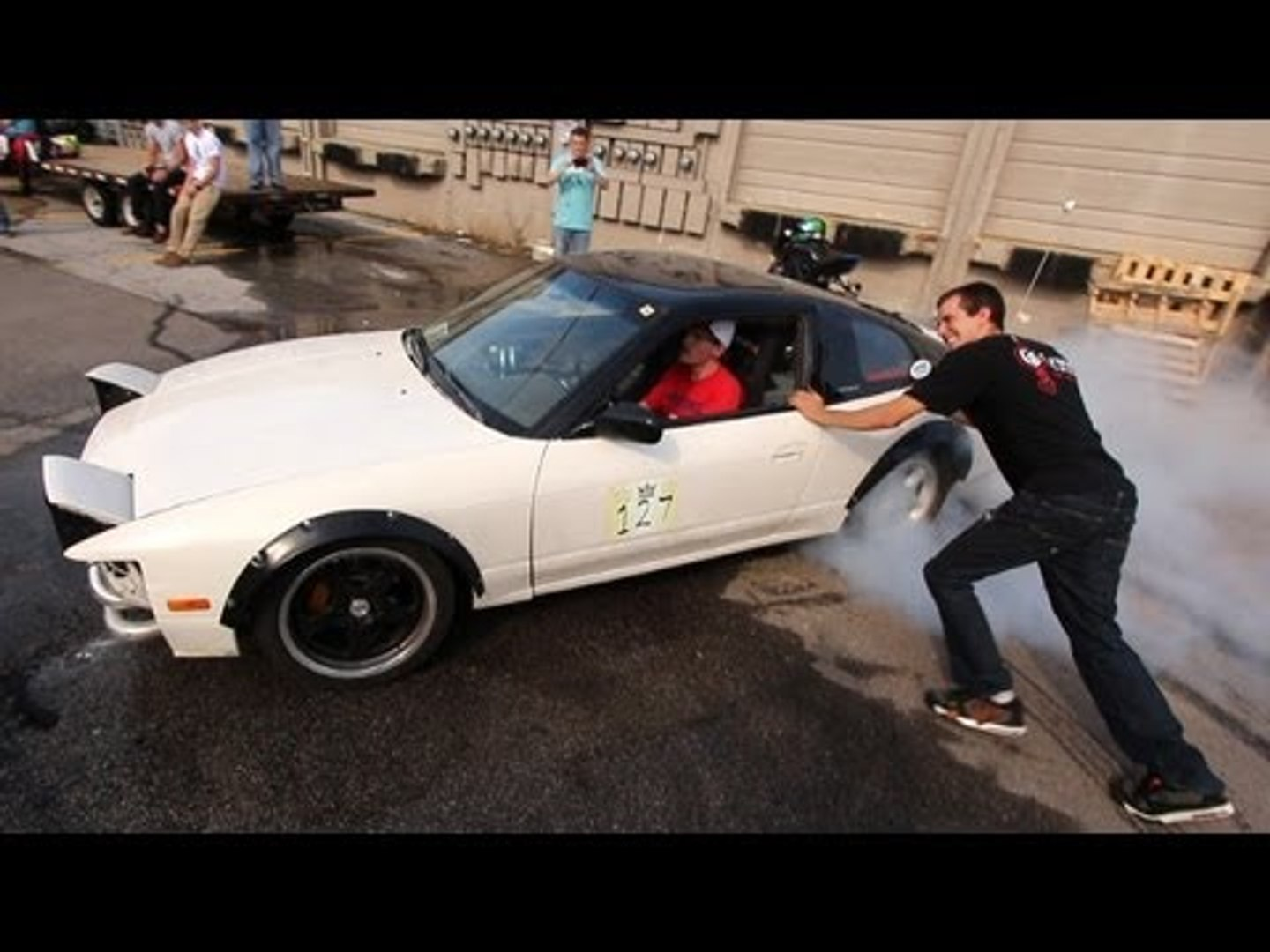 Assisted Cookies?!  240SX pops BOTH tires!