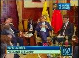 El presidente de China, Xi Jinping, inicia su visita oficial al Ecuador