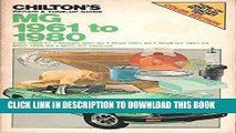 Best Seller Chilton s Repair   Tune-Up Guide: MG 1961 to 1980 (1100 1962-67, Midget 1961-80, MGB