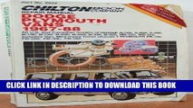 Best Seller Dodge/Plymouth Vans 1967-1988: Plymouth Vans (Chilton s Repair   Tune-Up Guides) Free