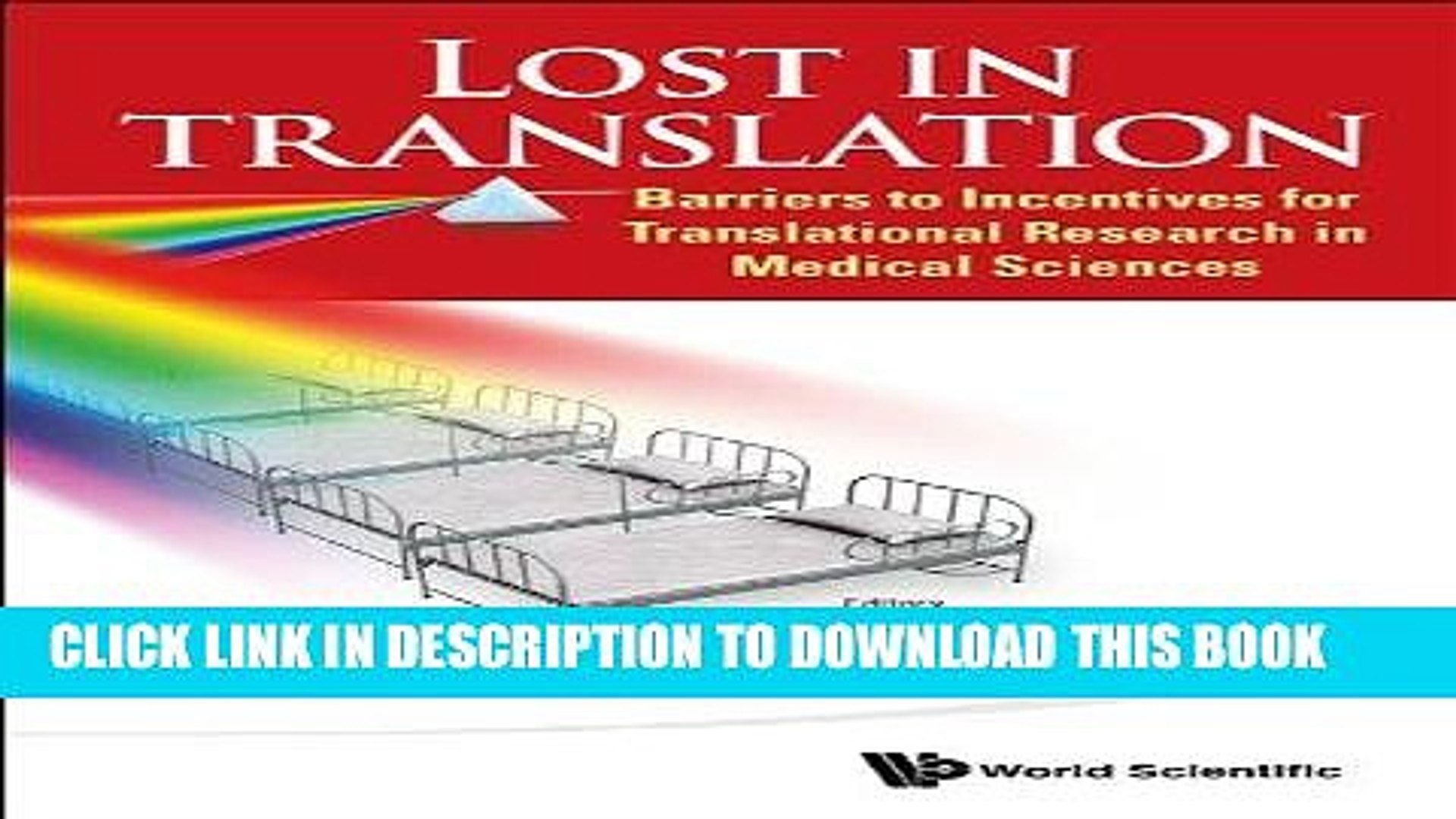 Amazing Ebook Lost In Translation Barriers To Incentives For Translational Research In Medical Sciences Machost Co Dining Chair Design Ideas Machostcouk